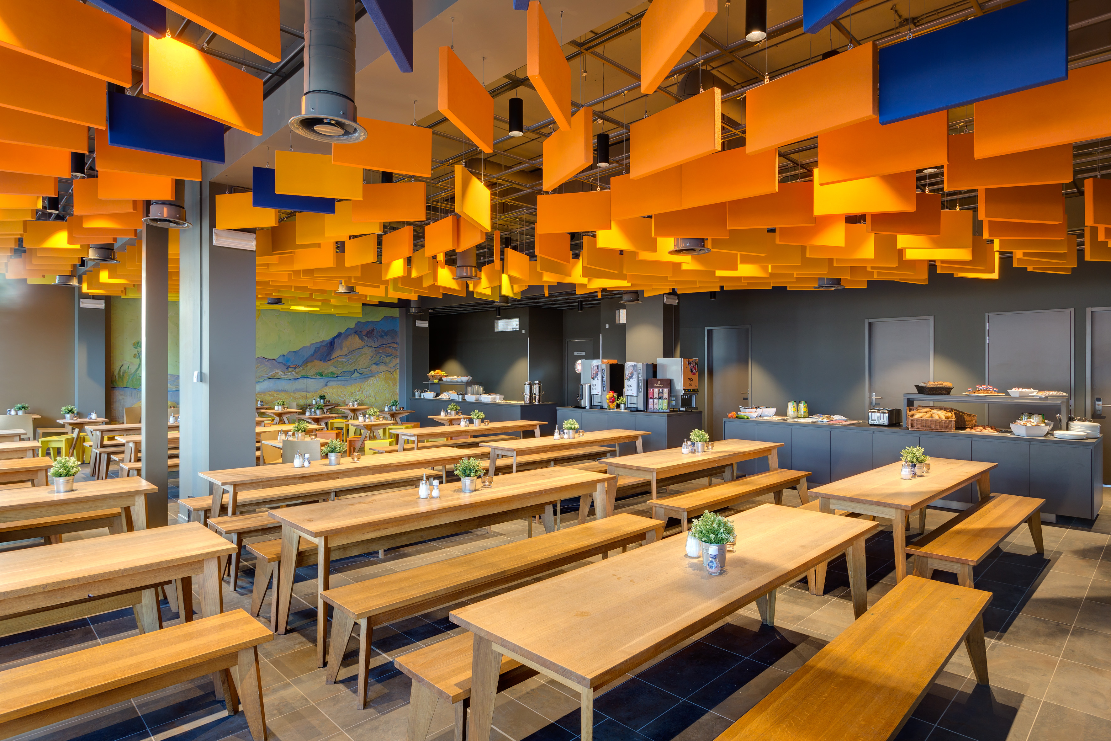 MEININGER Hotel Amsterdam City West - Ontbijtzaal/ buffet